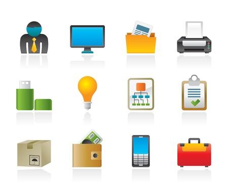 phone money: Iconos de equipo de negocio y Oficina  Vectores