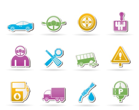 car services and transportation icons Stock Vector - 10302322