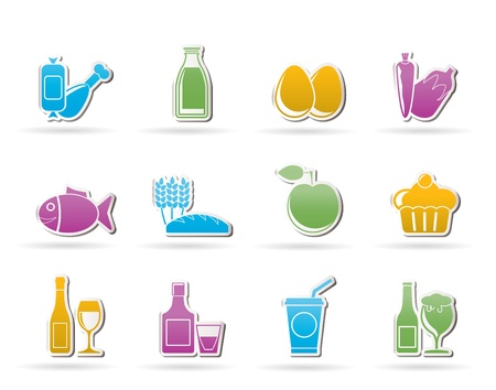 Food, drink and Aliments icons Stock Vector - 10302326