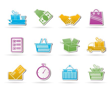 ship with gift: Shipping and logistic icons  Illustration