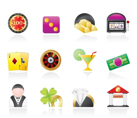 casino and gambling icons Stock Vector - 10302328