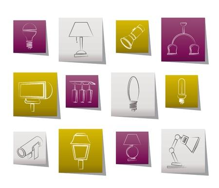 different kind of lighting equipment Stock Vector - 10302323