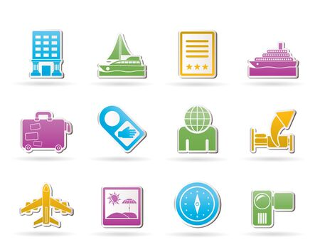 Travel, vacation and holidays icon Vector