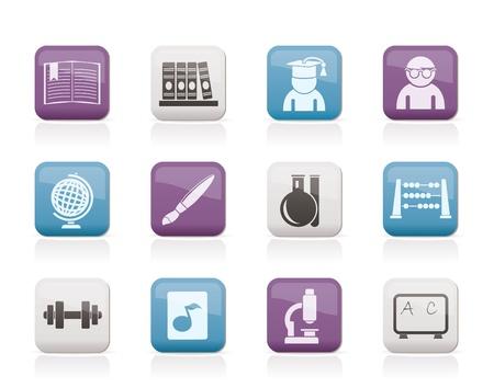 iconos educacion: iconos escuela y educaci�n - conjunto de iconos vectoriales Vectores