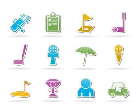 menu land: golf and sport icons - vector icon set
