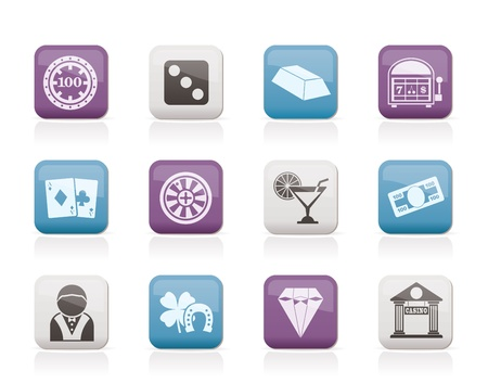 casino and gambling icons - vector icon set Stock Vector - 10446192