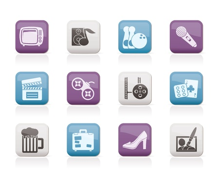 Leisure activity and objects icons - vector icon set Stock Vector - 10446195