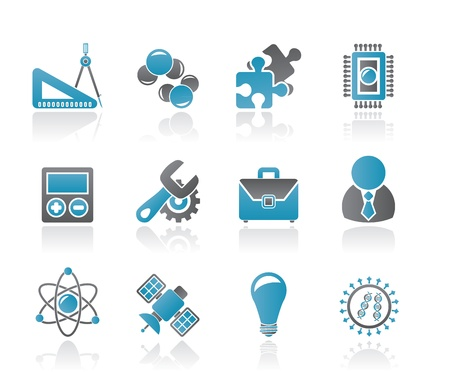 sciences: Science and Research Icons - Vector Icon set