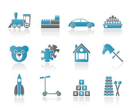 ingenieurs: Verschillende soorten speelgoed Icons - Vector Icon Set