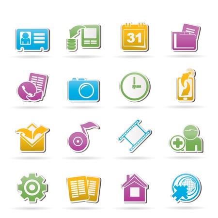 Mobile phone menu icons - vector icon set Vector