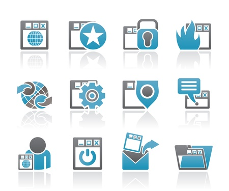 Internet, website and  Security Icons - vector icon set Stock Vector - 10554418