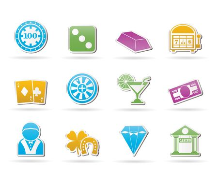 croupier: casino and gambling icons - vector icon set