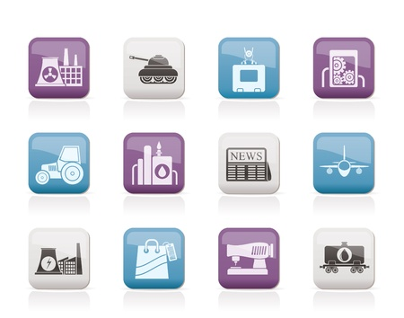 Business and industry icons - vector icon set Stock Vector - 10719226