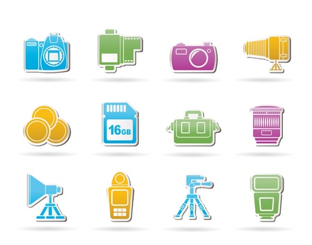 percolator: Photography equipment and tools icons - vector icon set