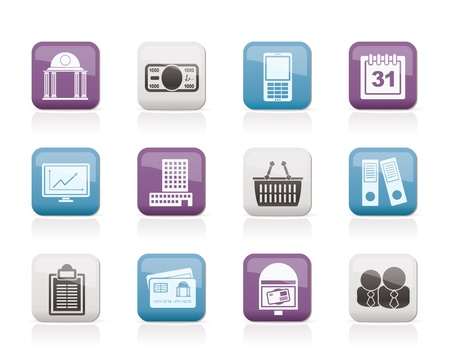 Business and finance icons - vector icon set Vector
