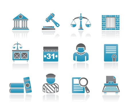 Justice and Judicial System icons  Stock Vector - 10788198