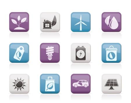 environnement entreprise: Ic�nes vertes et de l'Environnement