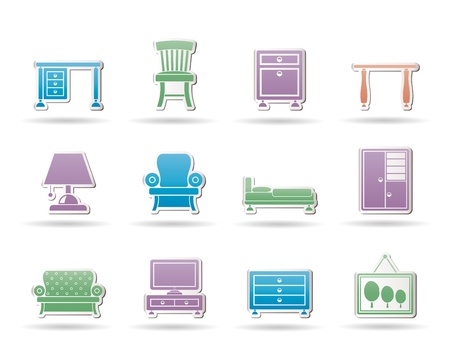 Home Equipment and Furniture icons Stock Vector - 10788197