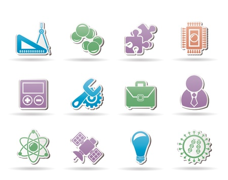 Science and Research Icons Stock Vector - 10788199
