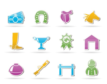 Horse Racing and gambling Icons Stock Vector - 10788200