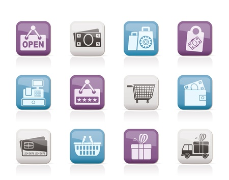 pocket book: shopping and retail icons