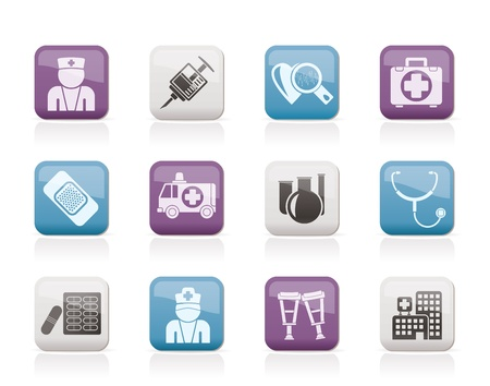 Medicine and healthcare icons Stock Vector - 10860895