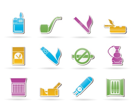 havana cigar: Smoking and cigarette icons Illustration