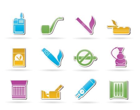havana cigar: Smoking and cigarette icons Illustration