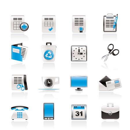 sign contract: Business and office tools icons