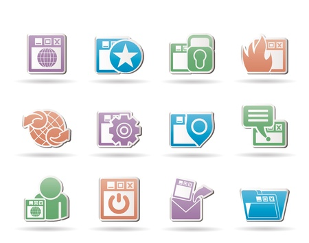 Internet, website and  Security Icons  Vector