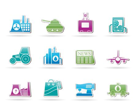 agrimotor: Business and industry icons - vector icon set