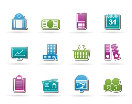 bank cart: Business and finance icons - vector icon set
