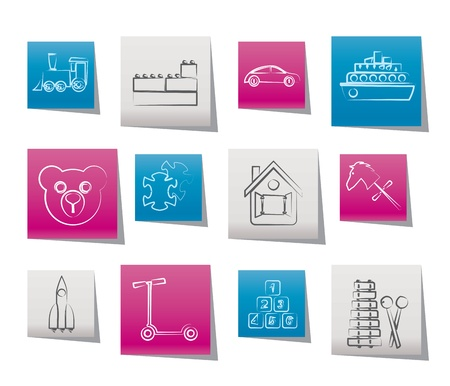 passanger: Different Kinds of Toys Icons