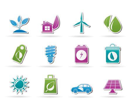sub menu: Green and Environment Icons