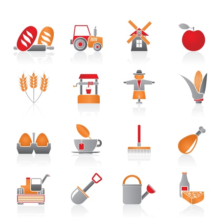 Agriculture and farming icons Stock Vector - 11107408