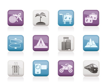 Holiday travel and transportation icons  Stock Vector - 11107399