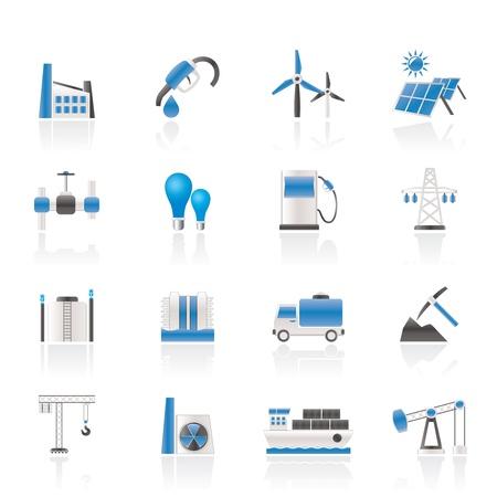 Wirtschaft und Industrie Symbole