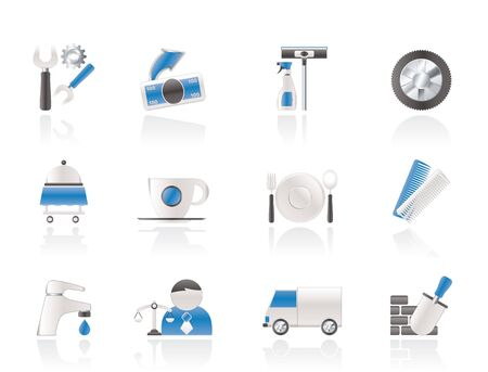 Services and business icons Stock Vector - 11107396