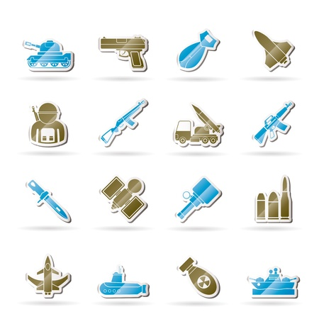 ballistic: Army, weapon and arms Icons  Illustration