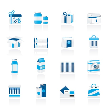 different kind of package icons Stock Vector - 11195299