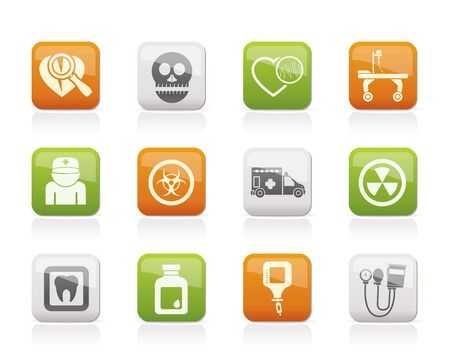 Medicine and hospital equipment icons Stock Vector - 11195307