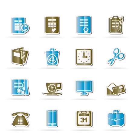 Business and office tools icons Stock Vector - 11195306