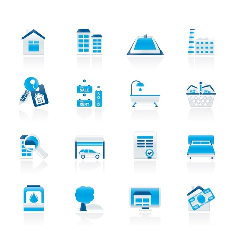 sign contract: Real Estate objects and Icons  Illustration