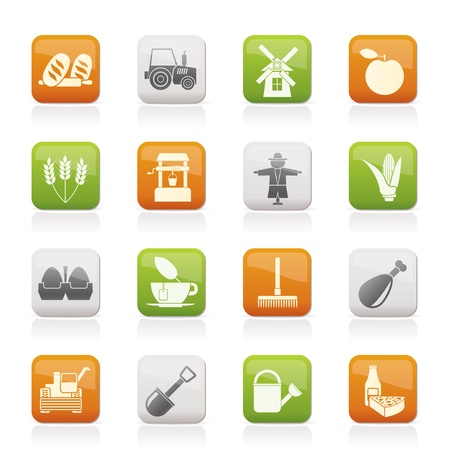 Agriculture and farming icons Stock Vector - 11195303