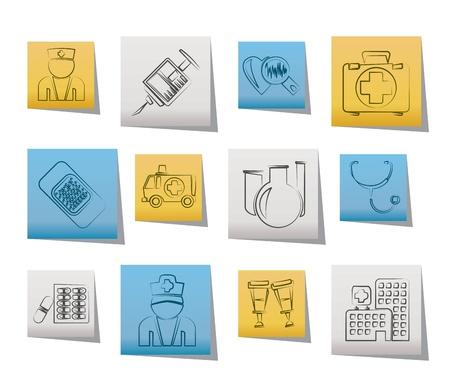 Medicine and healthcare icons - vector icon set Vector