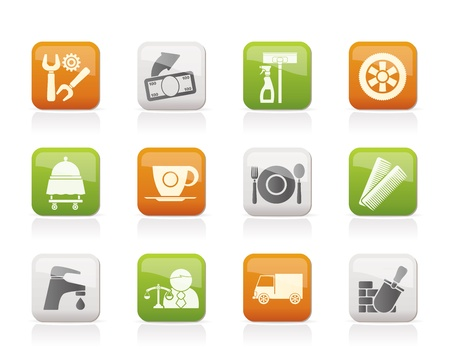 food industry: Services and business icons - vector icon set