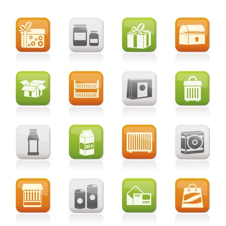 different kind of package icons - vector icon set Vector