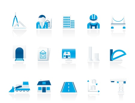 schemes: architecture and construction icons - vector icon set