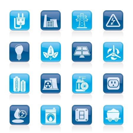 Kraft, Energie und Strom Icons - Vector Icon Set