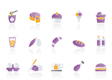 Dairy Products - Food and Drink icons - vector icon set Stock Vector - 11275113